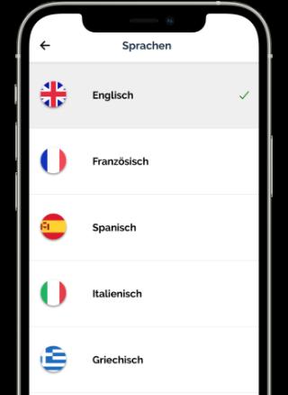 Jicki App Sprachwahl