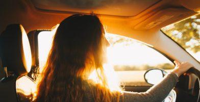 Unterwegs lernen Auto klein
